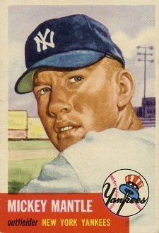 Mickey Mantle 1953 card